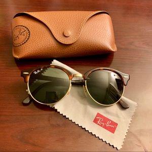 Ray-Ban Polarized Clubround Classic Sunglasses